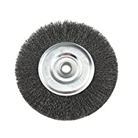 IVY Classic 39058 8-Inch x 5/8-1/2-Inch Arbor, Carbon Steel Crimped Bench Wire Wheel - 0.012-Inch Coarse, 1/Card