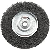 IVY Classic 39057 6-Inch x 5/8 - 1/2-Inch Arbor, Carbon Steel Crimped Bench Wire Wheel - 0.008-Inch Fine, 1/Card