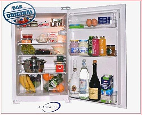Einbaukühlschrank ALASKAline KSAL270A+ Schlepptürtechnik Kühlschrank 0,88 m hoch weiß