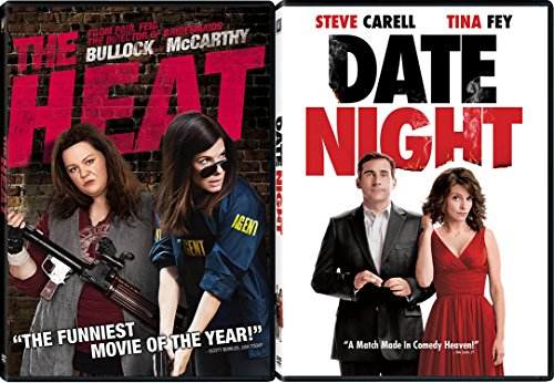 Date Night + The Heat Comedy Feature DVD Fun Double Feature movie Set Combo Edition