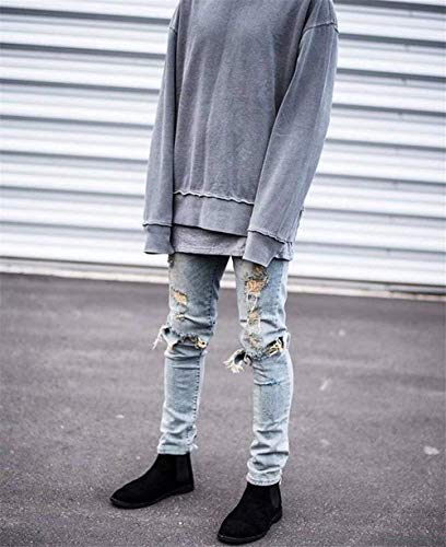 Casual Hellblau Buchi Seasons Jeans Chern Slim Nne Skinny Ragazzo Con Pants Il Four Uomo Da Fit Tliche Per Denim W7ZfH74
