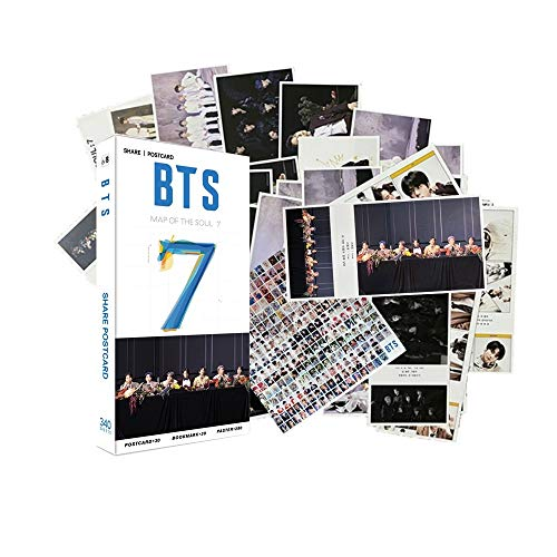 340PCS Bangtan boys Gift Set Perfect for Army Daughter(30PCS BTS Postcards,30PCS BTS Photocards,280PCS BTS MiniStickers)(Black)