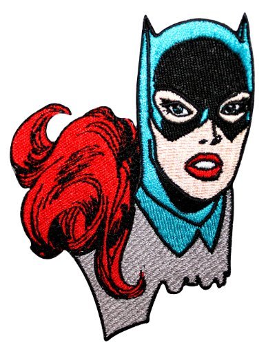 Batgirl Face Superhero Crime Fighter DC Comics Batman Iron On Applique Patch]()