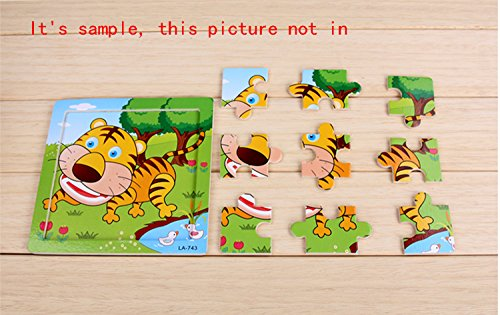 Kids Puzzles Toys 4 Pack, OMGOD 16pcs Wooden Animals Elephant Bee Dolphins Ladybugs Fancy Education And Learning Intelligence Toys Jigsaw Puzzles