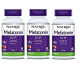 Natrol Melatonin Fast Dissolve Tablets, Strawberry Flavor, 3mg, 90 Count (Pack of 3)
