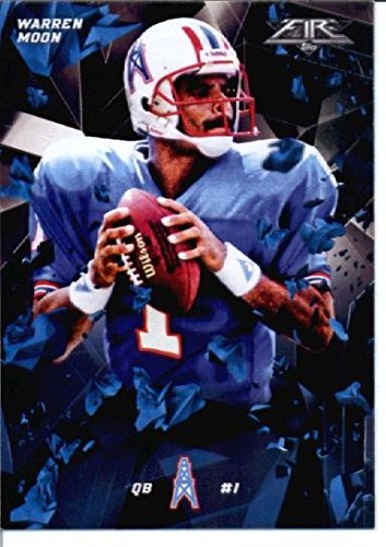 2015 Topps Fire #85 Warren Moon Houston Oilers Football Card in Protective Screwdown Display Case