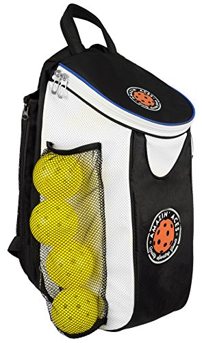 Amazin Aces Premium Pickleball Backpack | Bag Features Pickleball Holder/Sleeve | Pack Fits Multiple Paddles | Convenient Pockets for Phone, Keys, Wallet | Padded Back & Straps for Added Comfort