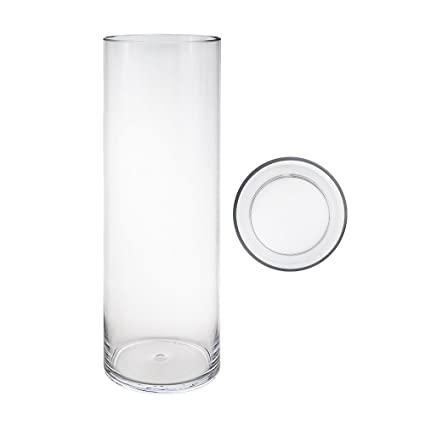 Amazon Mega Vases 6 X 24 Cylinder Glass Vase Set Of 1