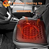 Koolertron Car Heated Seat Cushion Hot Cover Auto 12V Heat Heater Warmer Pad-winter Black Ideal For Coming Cold Winter Days