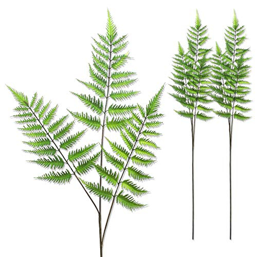 Warmter 3 Pcs Artificial Plants Boston Fern Tropical Plam Leaves Faux Fern for Palm Sunday Party Office Home 35