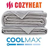 [New] Weighted Blanket 25lb - Includes Coolmax Duvet Cover for Hot Sleepers and Warm Fleece Cover- Stitched with Nano Ceramic Beads for Comfort- for Adults with ADHD, RLS, and Anxiety, 80