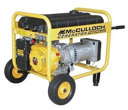 Amazon.com: McCulloch FG5700AK generador a combustible ...
