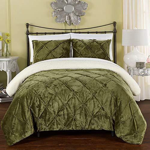 Hemau Premium New Soft Josepha Bedding Set, King Comforter, Green | Style -