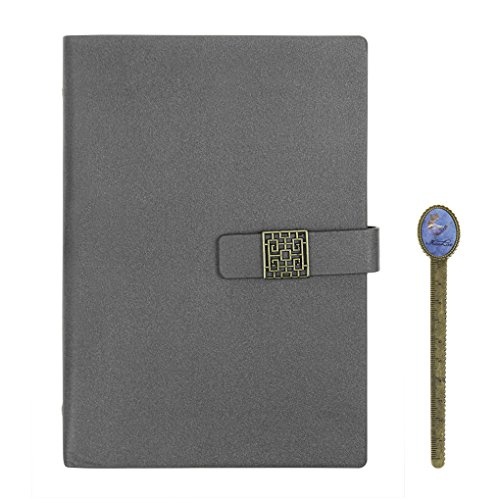 Refillable Wirebound Business Notebook - A5 Spiral Notebook Pu Leather Refillable Diary Sketchbook Wirebound Journal Ring Binder Diary Book with Magnetic Snap for School Office Business Travel