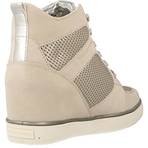 Damen Sneakers Grau N55 004 Lumberjack SW05105 Spaltleder xPBwwRI