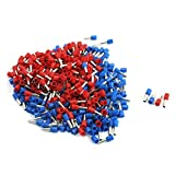 Aexit 12AWG Wire E4009 3mm Inner Dia Pre Insulate Ferrules Blue Red 380Pcs