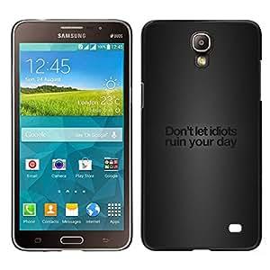 A-type Arte & diseño plástico duro Fundas Cover Cubre Hard Case Cover para Samsung Galaxy Mega 2 (Idiotas divertidos Mensaje)