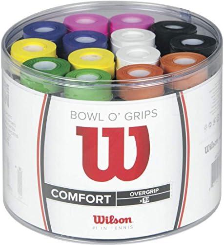 5 x Wilson Bowl O Grips Griffbänder Griffband Overgrip Badminton Tennis Squash *