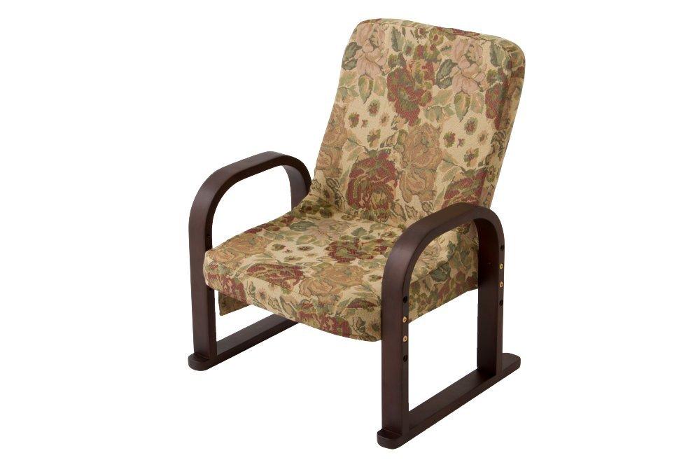 座椅子 リクライニング 肘掛け 肘付き 低反発 低反発クッション 肘掛 座いす 座イス 立ち上がりラクラク (921フラワー) B07CWMPZH5  921フラワー