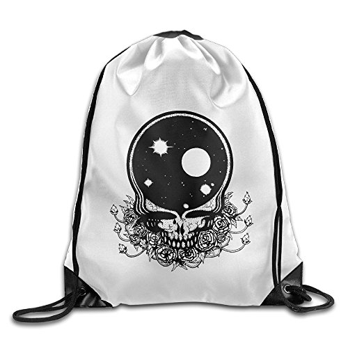 Bekey Space Grateful Dead Gym Drawstring Backpack Bags For Men & Women For Home Travel Storage Use Gym Traveling Shopping Sport Yoga Running