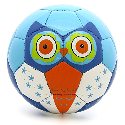 Picador Cartoon Soccer Ball Size 1 for Toddler Shipped Deflated (Blue Owl)