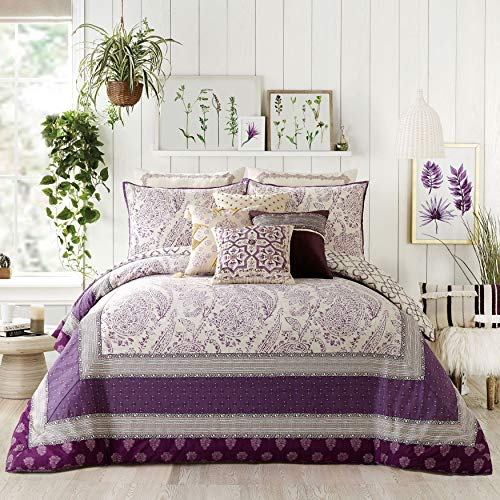BrylaneHome Jessica Simpson Jacky 3-Pc. Comforter Set - Purple, King