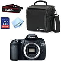 Canon EOS 60D (Body Only) + Al's Variety Deluxe Gadget Bag + 32GB Bandwidth Memory Card + Al's Variety Premium Cleaning Cloth + Top Value Bundle