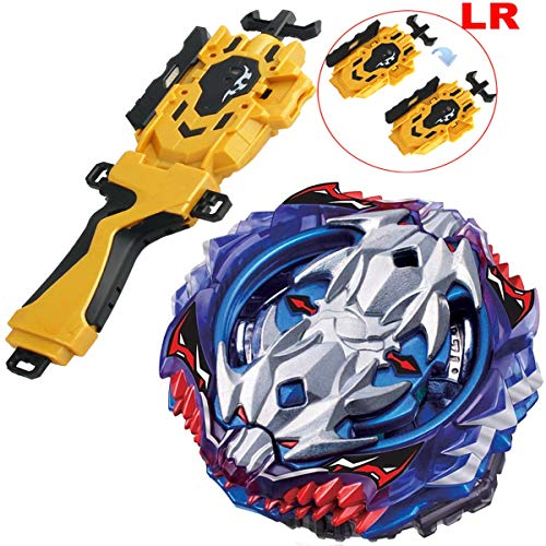 (Gold LR String Launcher Grip Bey Battling Top Set Burst Blades Evolution Bey Battle Booster Starter Gyro Bay Battle Top B-118 Vol.11-1 Vise Leopard .12L.Ds Novelty Spinning Game Toys Gift for Boys)