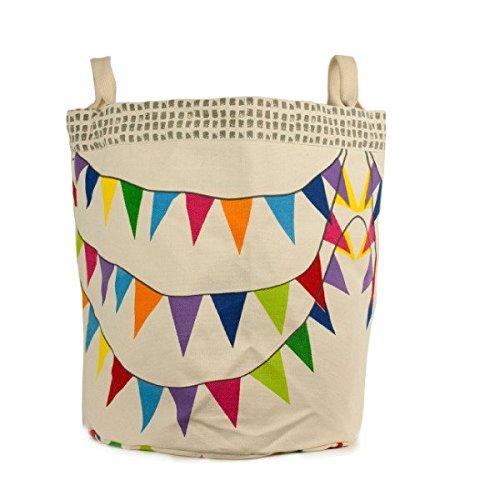 Fluf Organic Cotton Tote Bag & Storage Bin, Flags / Large