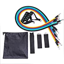 Resistance Bands, ADiPROD Sets with Ankle Strap, Exercise Chart, and Carrying Bag