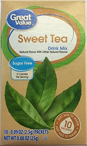 Great Value Sweet Tea Drink Mix, 10 count, 0.88 oz