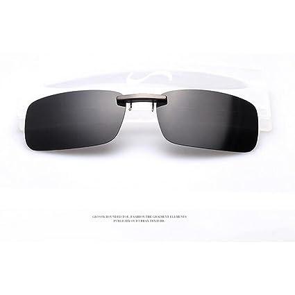 Zimo® Polarizado Clip Gafas de Sol de los Vidrios de Sol de Conducción de Cristal de la Visión Nocturna de la Lente Pequeño Clip