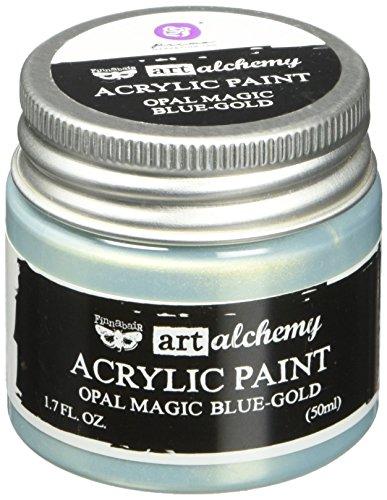 Prima Marketing 963675 Finnabair Art Alchemy Acrylic Paint, 1.7 fl. oz, Opal Magic Blue/Gold