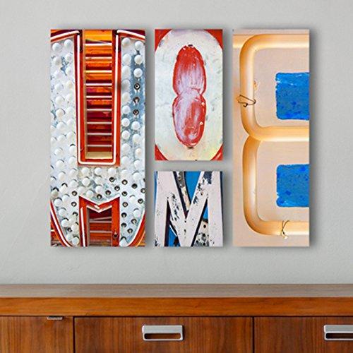 HOME Sign, Neon Letter Art, Vegas Neon Letter Photos, 15x15 Arrangement