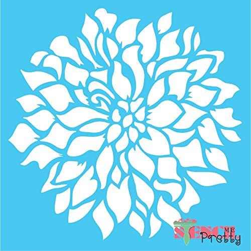 """M 12/"""" x 12/"""" diy crafting Dahlia Daisy Bloom Flower Stencil"""