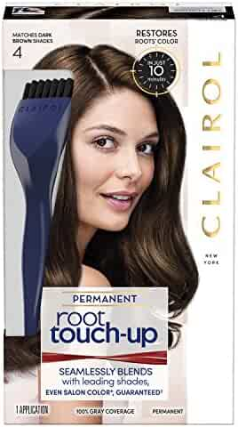 Clairol Nice 'n Easy Root Touch-Up 4 Kit (Pack of 2), Matches Dark Brown Shades of Hair Coloring, Includes Precision Brush Applicator Tool (PACKAGING MAY VARY)