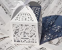 60PCs Wedding Favor Box Love Bird Candy Bag Chocolate Gift Box Bridal Baby Shower Cubic (Style #2 (3\