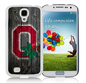 Unique Samsung Galaxy S4 Screen Case ,Popular And Durable Designed Case With Ohio State Buckeyes Alternate Logo Wood White Samsung Galaxy S4 High Quality Phone Case