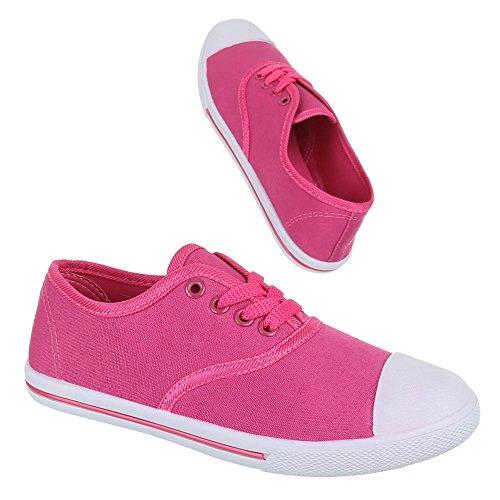Ital-Design - Zapatillas de tela para mujer Rosa - rosa