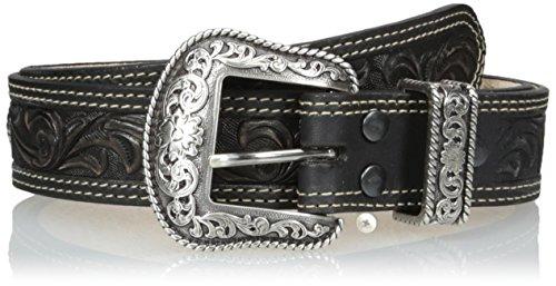 Nocona Men's San Antonio USA Belt, Black, (Antonio Leather)