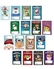 160 Stks Kerst Tags Vrolijke Kerststickers Kerstcadeau Verzegelingsstickers Zelfklevende Etiketten Stickers Kerst Festival Tags voor kerstcadeaus Wrapping DIY Craft Decoratie