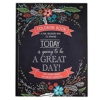 Today is Going to be a Great Day Coloring Book: 62 perforated heavy stock pages to colors, Includes gift tags and bookmarks, Presentation page for gift giving (1432113356) | Amazon price tracker / tracking, Amazon price history charts, Amazon price watches, Amazon price drop alerts