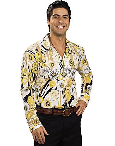 Feelin' Groovy Shirt (Yellow) Adult Costume, Standard, (Feelin Groovy Halloween Costume)