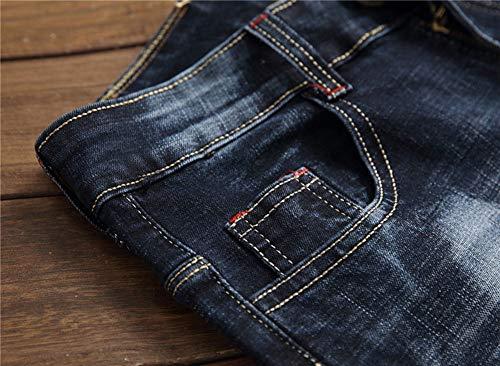 Piedi Versaces Della Pantaloni Slim Vita Metà Vestibilità Maschi Jeans Color Dritto 2 Micro bomba Ricamo rFqnwP7r0