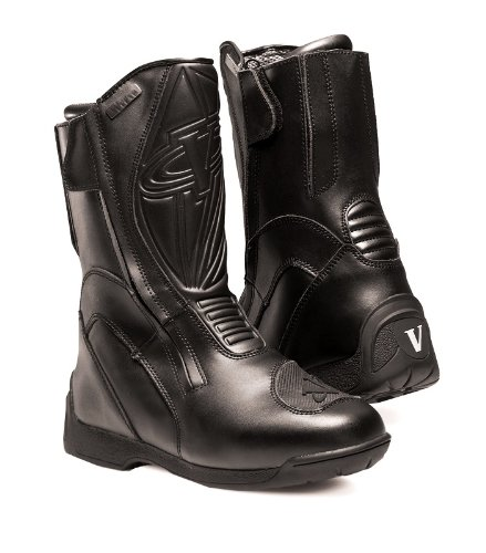 Vega Touring Men's Motorcycle Boots (Black, Size 8)