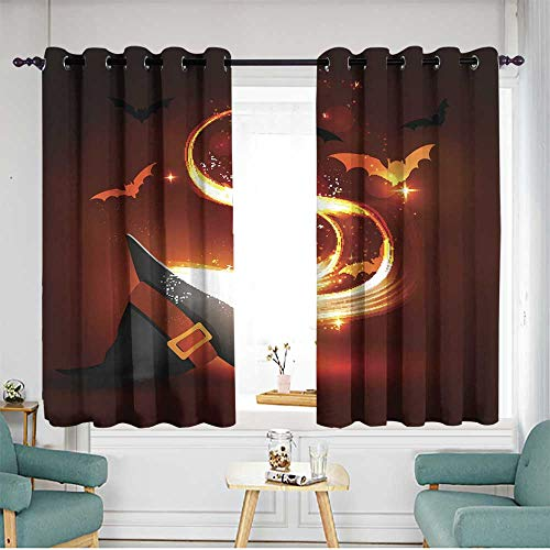 home1love Simple Curtains Darkening Thermal Insulated Blackout W 55