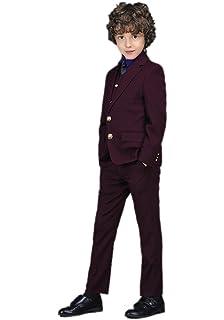 Icegrey Costume Garçon 5 Pièces Smoking Garçon dhonneur Mariage Page Boy  Costume Pour Communion Confirmation ICG f805e752ad0