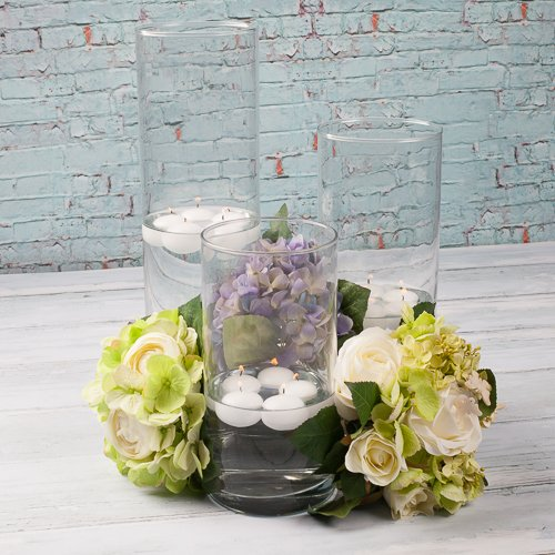 Eastland Wide Cylinder Vase 5'' x 13'' Set of 6