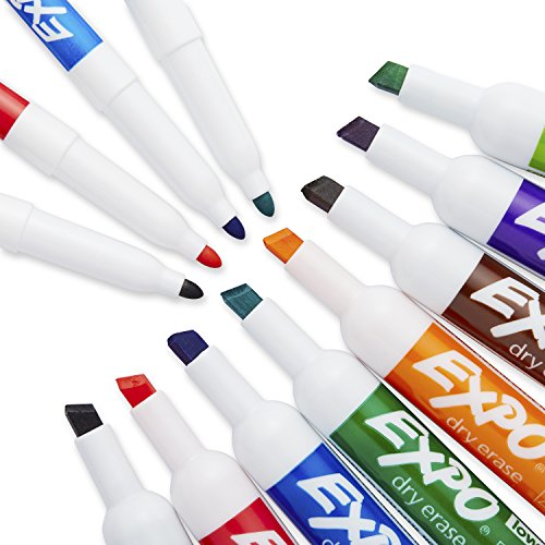 EXPO 80054 Low-Odor Dry Erase Markers, Chisel Tip, Assorted Colors, 15-Piece Set by Expo (Image #3)