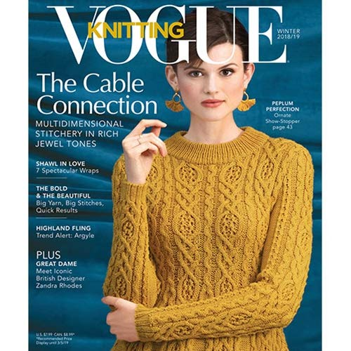 Vogue Knitting Magazine (Winter, 2018/2019) The Cable Connection